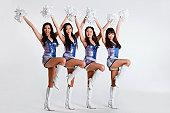 Group of young women cheerleaders
