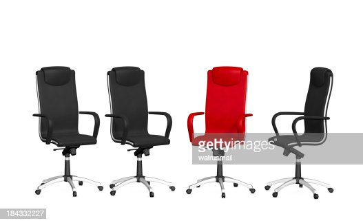 Group Office Chairs Stock Photo