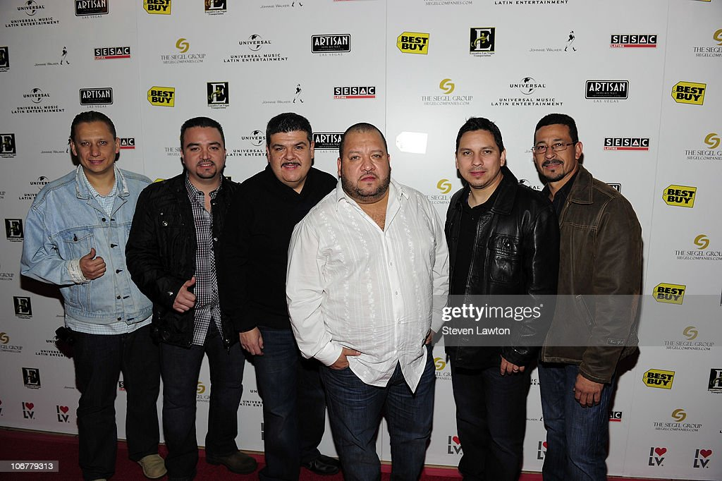 Group <a gi-track='captionPersonalityLinkClicked' href=/galleries/search?phrase=Pesado&family=editorial&specificpeople=2613713 ng-click='$event.stopPropagation()'>Pesado</a> arrives for 2010 Latin GRAMMYs after party at Artisan Hotel Boutique on November 11, 2010 in Las Vegas, Nevada.