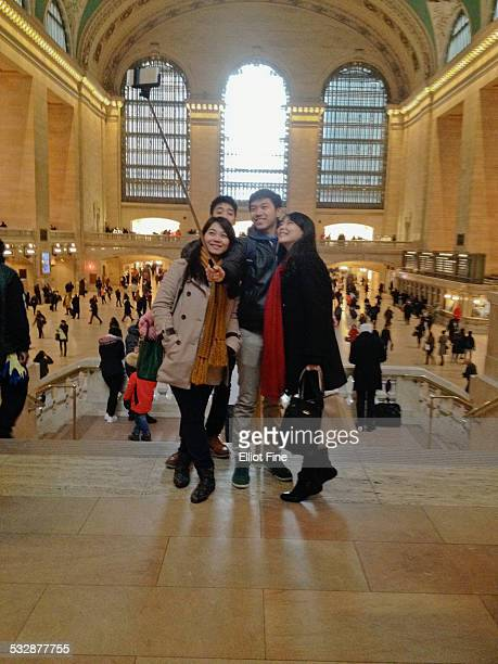 Group Photo at Grand Central Station NYC Using a Selfie Stick