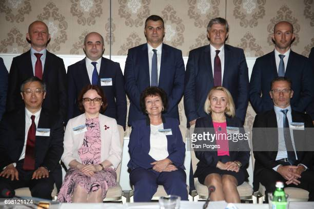 Group photo of attendees at the 36th Meeting of the Central Bank Governors' Club of Central Asia the Black Sea Region and the Balkan Countries...