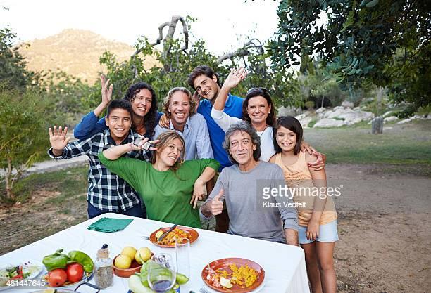 Group photo of multigenerational family