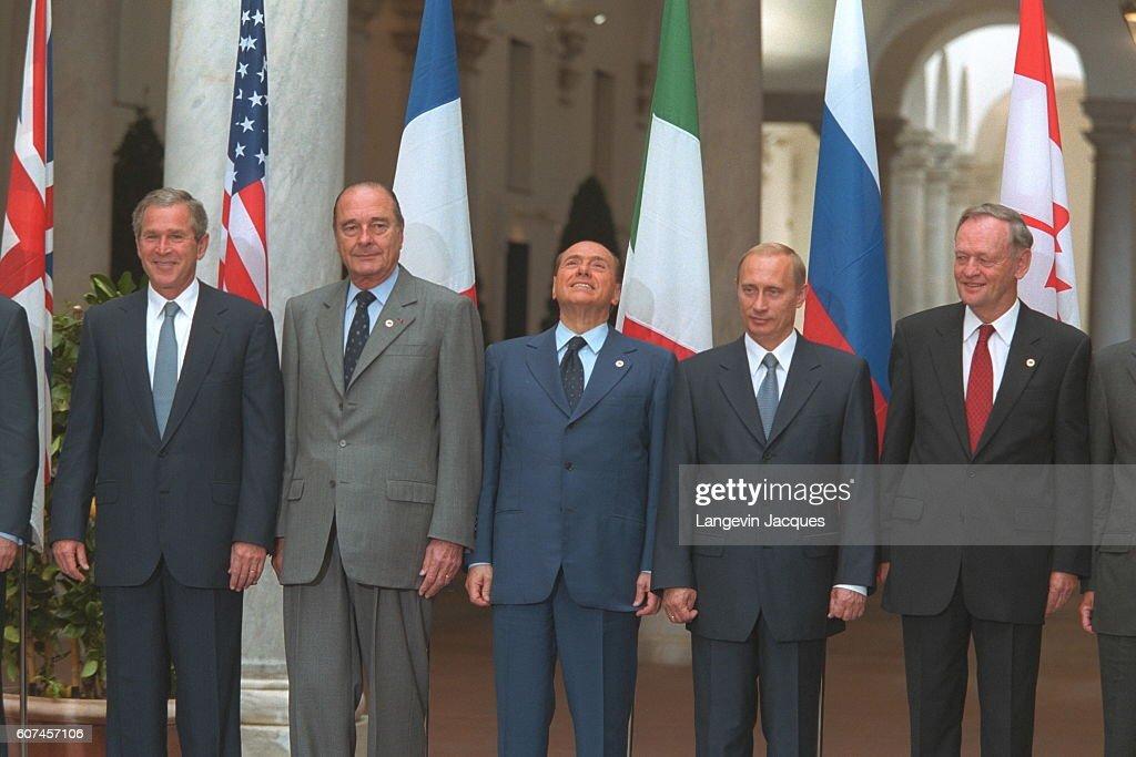 ¿Cuánto mide Silvio Berlusconi? - Altura - Real height Group-photograph-bush-chirac-berlusconi-putin-and-chretien-picture-id607457106