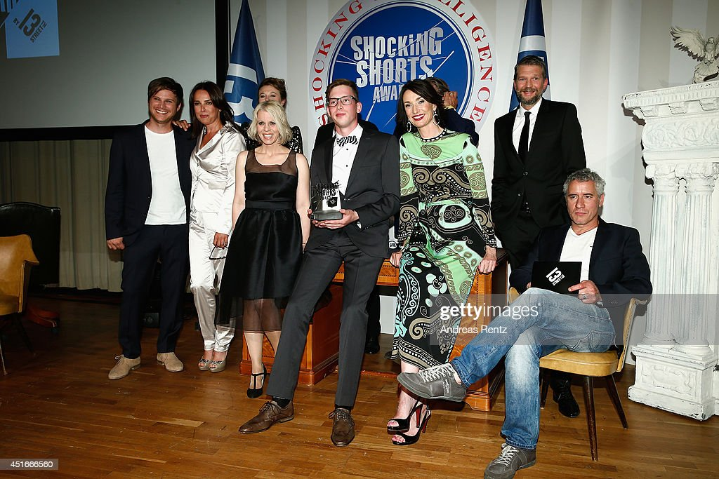 Group picture at the Shocking Shorts Award 2014 at Amerika Haus on July 3, 2014 in Munich, Germany.