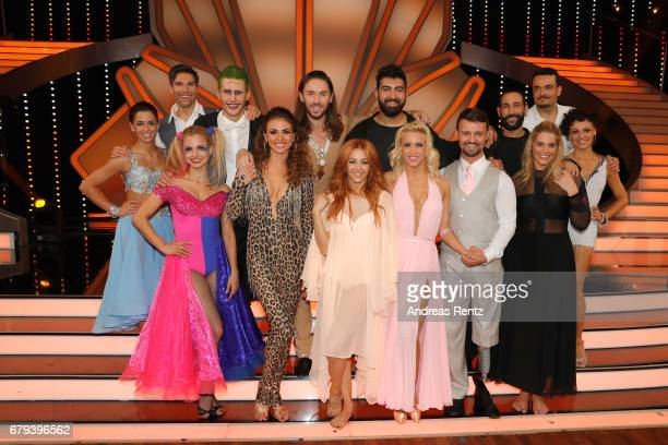Group picture of all competitors on stage after the 7th show of the tenth season of the television competition 'Let's Dance' on May 5 2017 in Cologne...