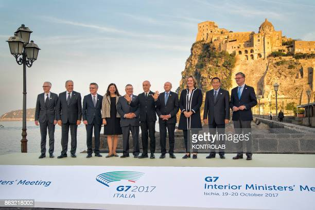 Group picture of the G7 Interior Ministerial Meeting in Ischia Italy