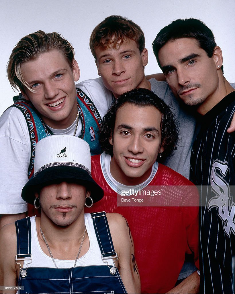 Group portrait of American boy band Backstreet Boys London 1998 Clockwise from top left Nick Carter Brian Littrell Kevin Richardson Howie Dorough and...