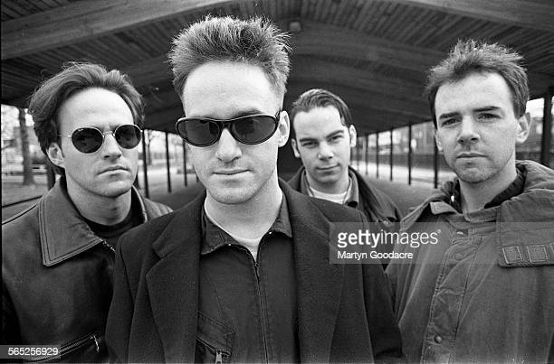 Group portrait of American indie rock band The Wrens New York United States 1992 Line up includes Charles Bissell brothers Greg Whelan and Kevin...
