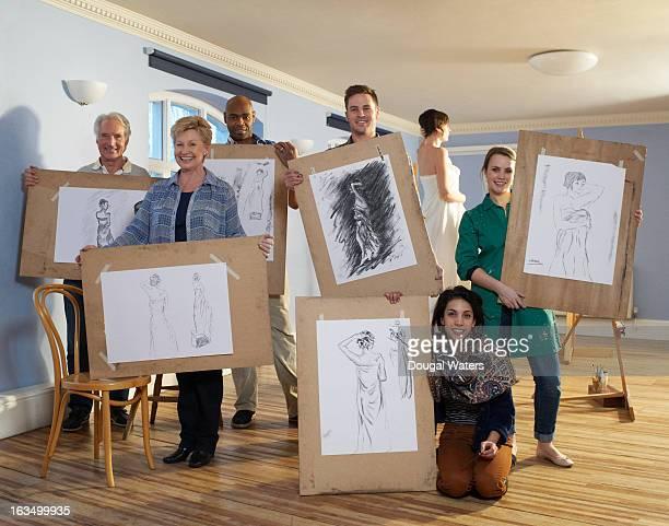 Group portrait of art class.