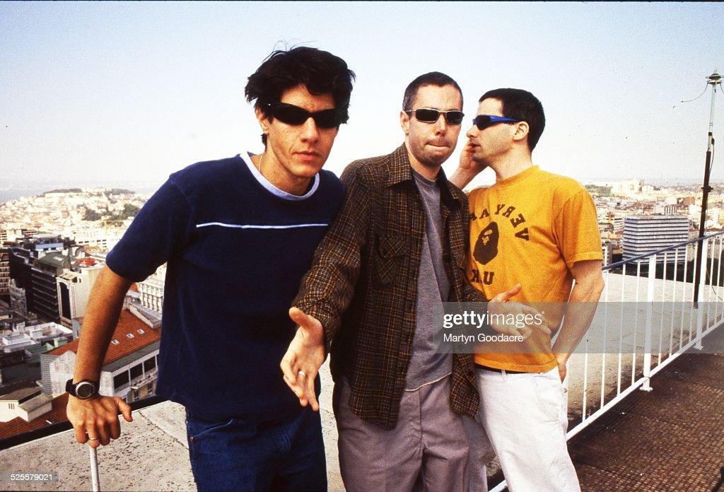 Group portrait of Beastie Boys Portugal 1998 LR Mike Diamond Adam Yauch and Adam Horowitz
