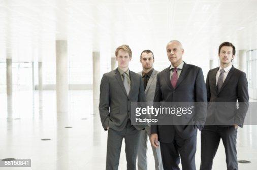 Group portrait of business men