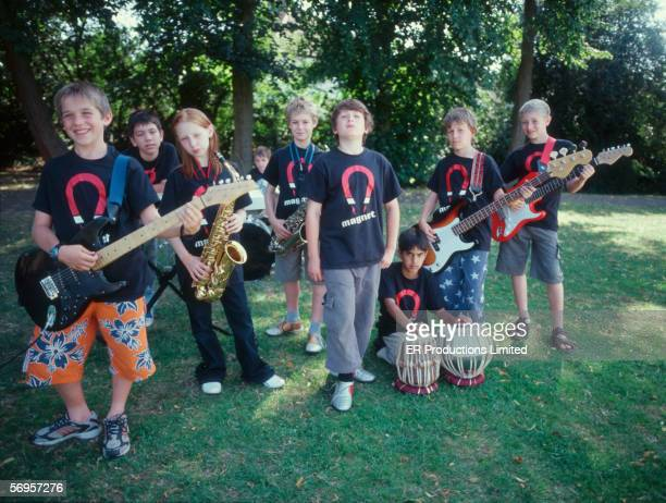 Group portrait of child band