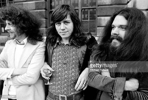 A group portrait of Electric Light Orchestra ELO 25th April 1972 LR Jeff Lynne Bev Bevan Roy Wood