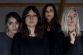 Group portrait of female American indie rock group Warpaint Amsterdam Netherlands 18 November 2013 LR Jenny Lee Lindberg Stella Mozgawa Theresa...