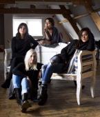 Group portrait of female American indie rock group Warpaint Amsterdam Netherlands 18 November 2013 LR Stella Mozgawa Emily Kokal Jenny Lee Lindberg...