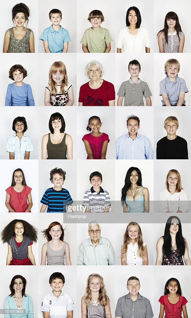 Group portrait of people smiling : Stock Photo