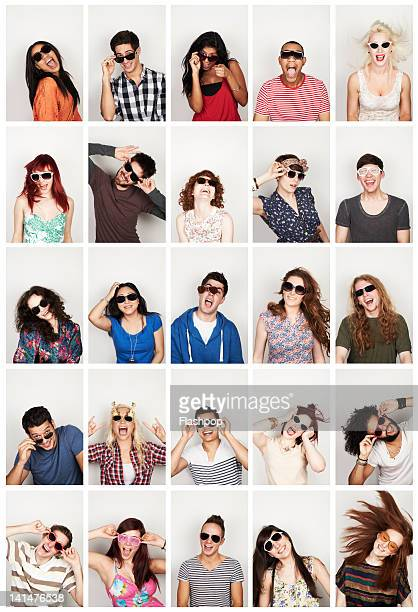 Group portrait of people wearing sunglasses