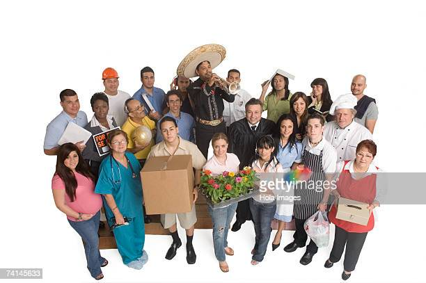 Group portrait of people with different occupations