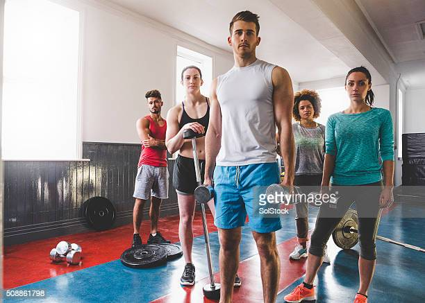 Group Portrait of Personal Trainers and Gym Instructors