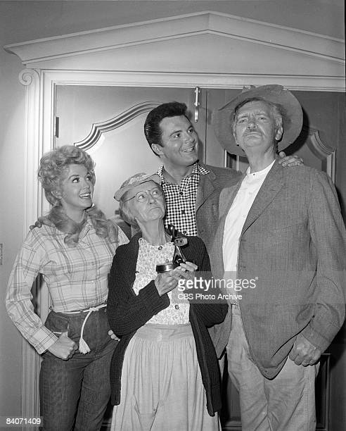 Group portrait of The Beverly Hillbillies from left Donna Douglas as Elly May Clampett Irene Ryan as Daisy Moses 'Granny' Max Baer Jr as Jethro...