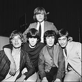 Group portrait of the Rolling Stones circa 1964 LR Mick Jagger Keith Richards Brian Jones Bill Wyman Charlie Watts