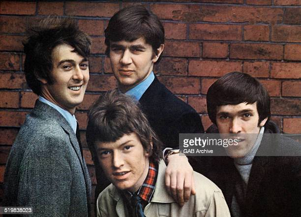 Group portrait of The Spencer Davis Group 1965 LR Spencer Davis Steve Winwood Pete York Muff Winwood