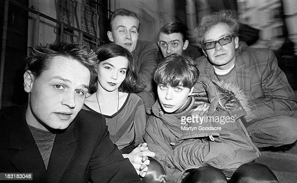 Group portrait of the Sugacubes with Bjork in Paris France 1991