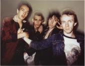 A group portrait of UK punk rock band The Clash New York September 1978 LR Joe Strummer Paul Simonon Mick Jones Nicky 'Topper' Headon