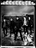 Group portrait of Welsh rock band Lostprophets UK 2009 LR Lee Gaze Jamie Oliver Ian Watkins Mike Lewis and Stuart Richardson
