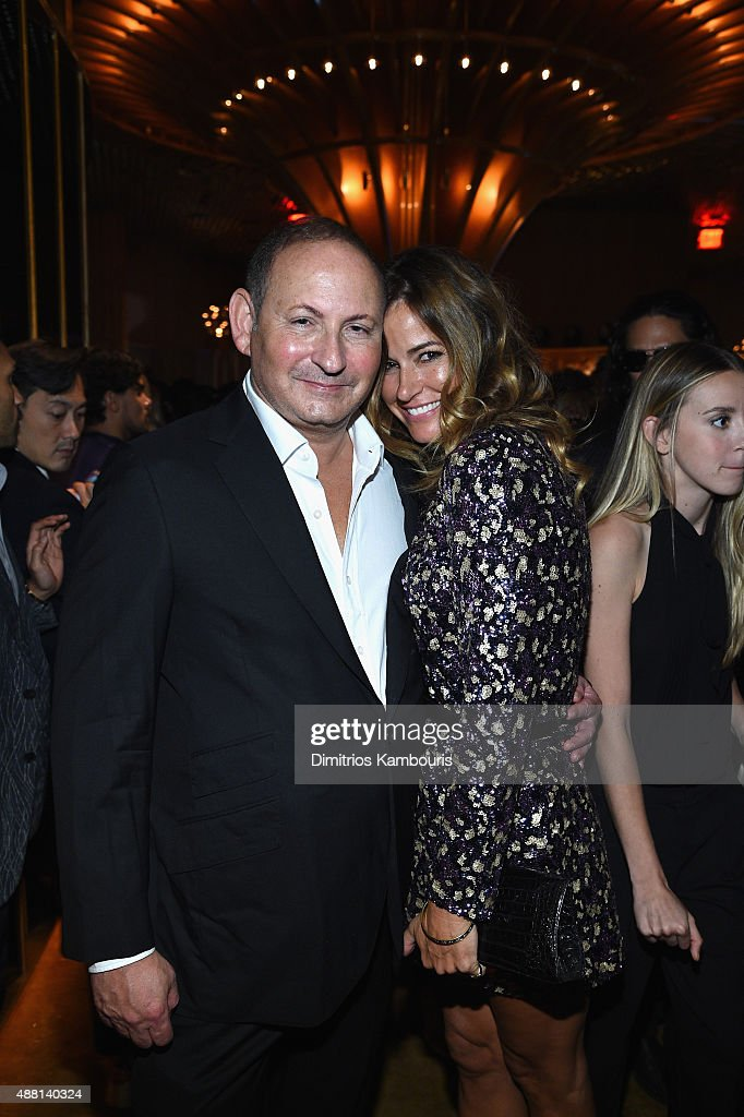 Group President of The Estée Lauder Companies John Demsey and Kelly Bensimon attend the new Gold Collection fragrance launch hosted by Michael Kors...