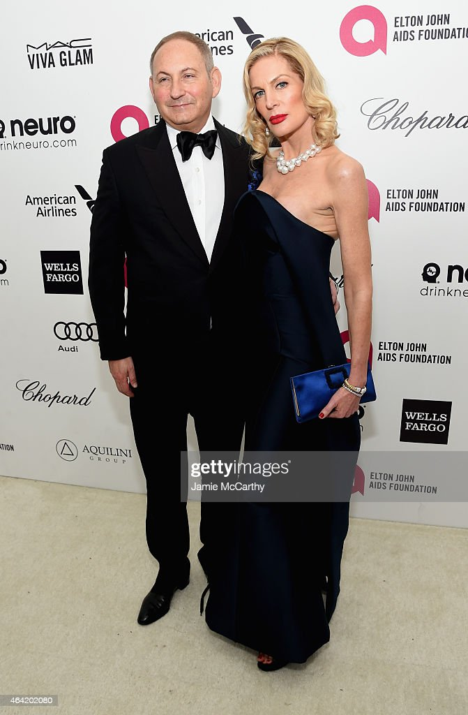 Group President The Estée Lauder Companies Inc John Demsey and Prescilla Waters attend the 23rd Annual Elton John AIDS Foundation Academy Awards...