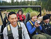 Woman holding digital video camera, Cougar Mountain, Whistler, British Columbia, Canada, September 2003