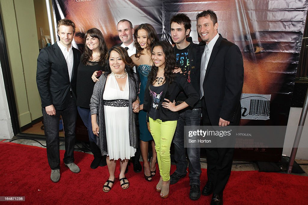 A group shot including Megan Griffiths, Chong Kim, <a gi-track='captionPersonalityLinkClicked' href=/galleries/search?phrase=Jamie+Chung&family=editorial&specificpeople=4145549 ng-click='$event.stopPropagation()'>Jamie Chung</a>, <a gi-track='captionPersonalityLinkClicked' href=/galleries/search?phrase=Scott+Mechlowicz&family=editorial&specificpeople=621393 ng-click='$event.stopPropagation()'>Scott Mechlowicz</a> attend the premiere of 'Eden' at Laemmle Music Hall on March 28, 2013 in Beverly Hills, California.