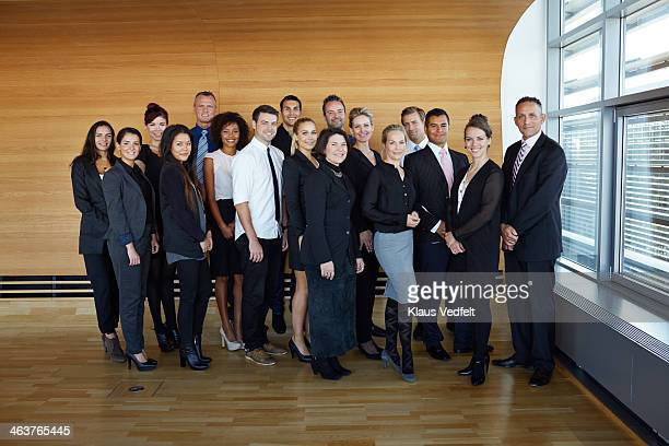 Group shot of business people in conference room