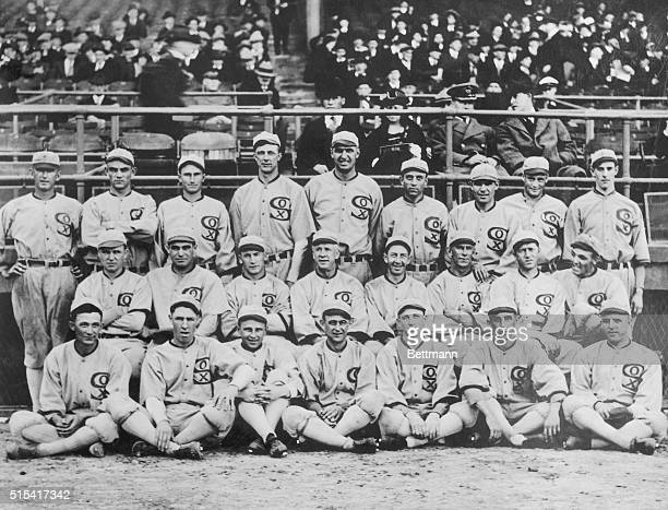 Group shot of the 1919 White Sox They would after this year be known as the 'Black Sox Scandal' team due to the allegation that eight members of the...