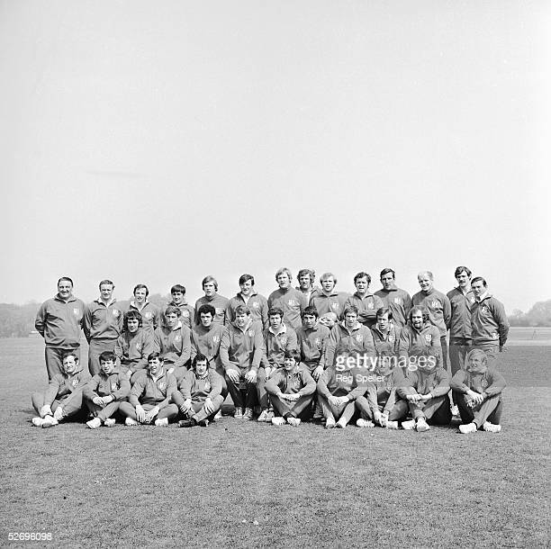 A group shot of the British Lions rugby team set to tour Australia and New Zealand 24th May 1971