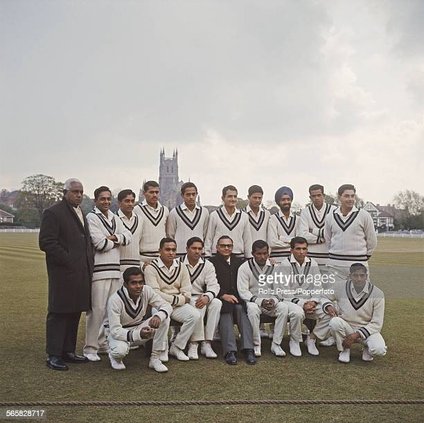 Group shot of the India cricket team posed together before their match against Worcestershire at Worcestershire's home ground at New Road Worcester...