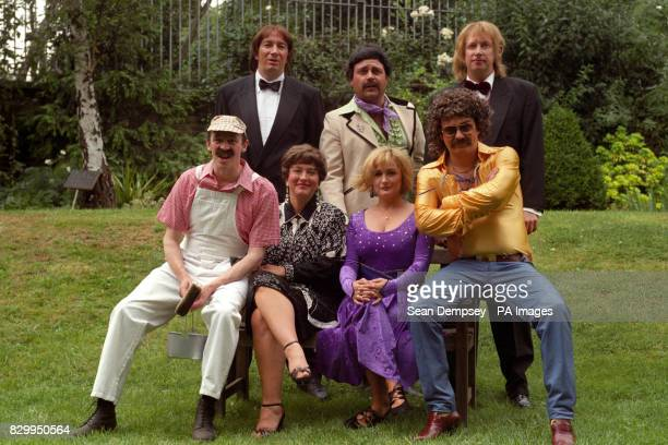 A group shot of the members of the BBC series 'The Fast Show' at a photocall Back LR Simon Day John Thomson Mark Williams Front LR Paul Whitehouse...