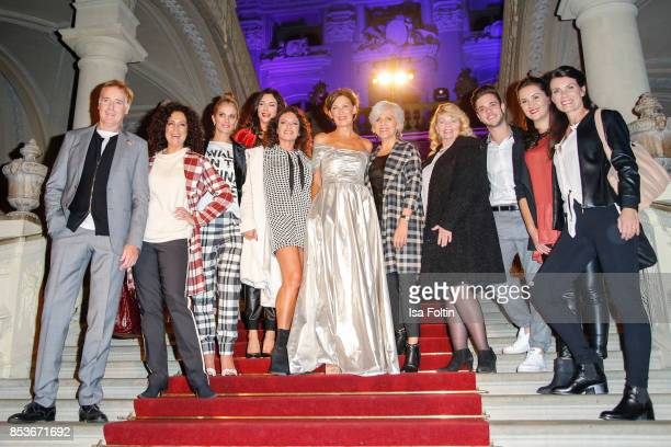 Group shot with Austrian actor Albert Fortell Austrian actress Barbara Wussow German presenter Kerstin Linnartz German presenter Alexandra Polzin...