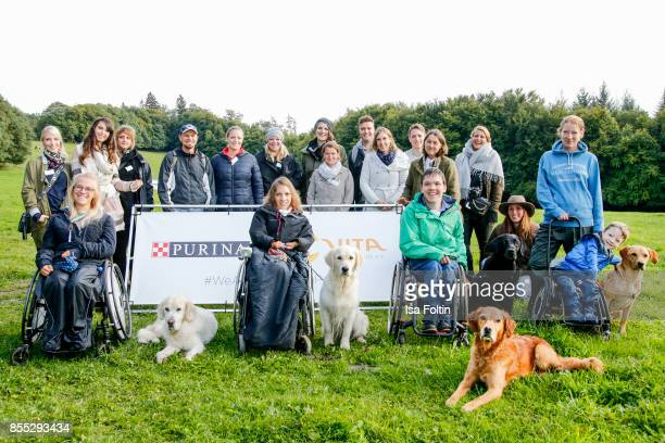Group shot with the VitaTeams Vita president Tatjana Kreidler blogger and the Purina manager Susanne Munz and Cathrin Koch during the Purina and Vita...