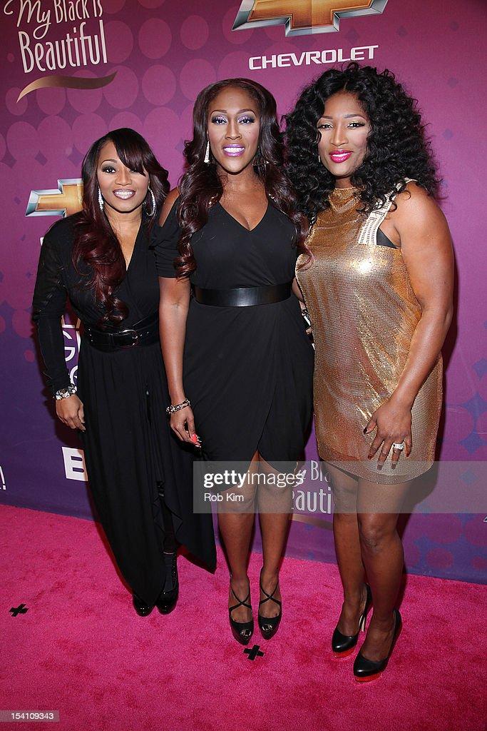 R&B group SWV (L-R) Leanne 'Lelee' Lyons, Cheryl 'Coko' Clemons and Tamara 'Taj' Johnson-George attend Black Girls Rock! 2012 at the Paradise Theater on October 13, 2012 in the Bronx borough of New York City.
