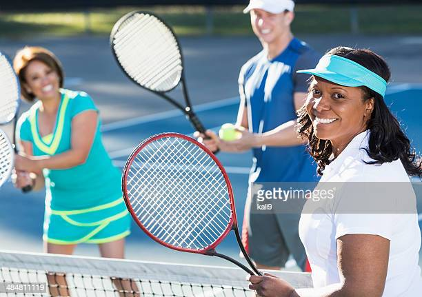 Group tennis lesson