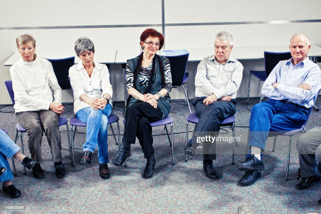 Group therapy in the community center : Stock Photo