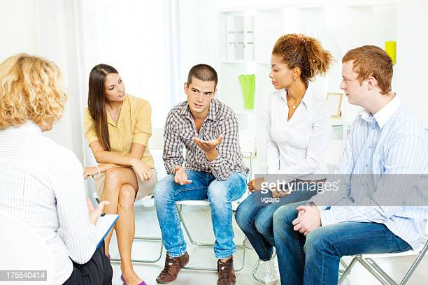 Thérapie de groupe.