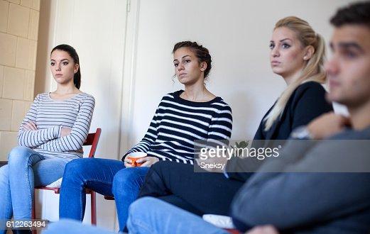 Gruppentherapie Sitzung