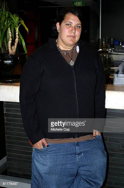 Group three 'Australian Idol' semi finalists Casey Donovan poses during a photo call at the Cargo Bar August 16 2004 in Sydney Australia