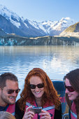 A group tour through the glaciers of Mt. Cook.