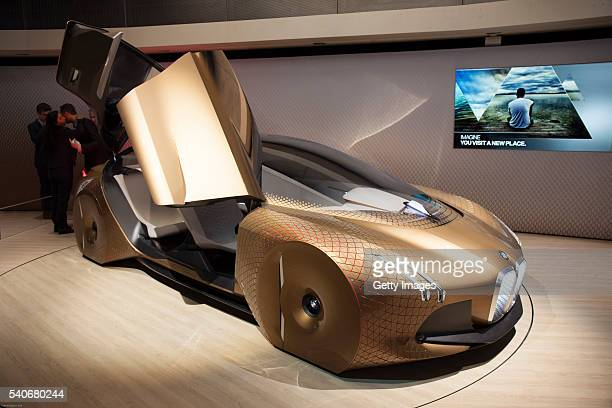 Group unveiles Vision Next 100 concept BMW at the Roundhouse on June 16 2016 in London England BMW Group unveiled three of their Vision Next 100...