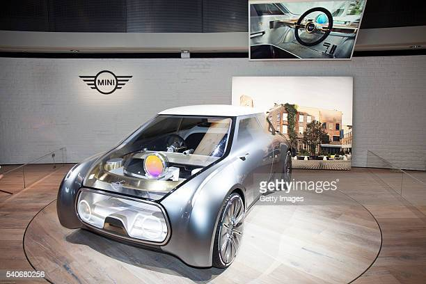 Group unveiles Vision Next 100 concept Mini at the Roundhouse on June 16 2016 in London England BMW Group unveiled three of their Vision Next 100...