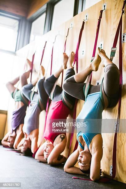 Group Wall Yoga Class